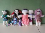 """Vasalissa dolls made by teenage girls inspired by the story """"Baba Yaga and Brave Vasalissa"""""""