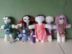"Vasalissa dolls made by teenage girls inspired by the story ""Baba Yaga and Brave Vasalissa"""