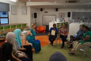 Teaching early childhood teachers in Australian International School, Kuala Lumpa.