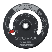 Magnetic Flue Pipe Thermometer - Stovax Accessories