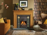 Art Nouveau Tiled Convector Fireplaces - Stovax Fireplaces