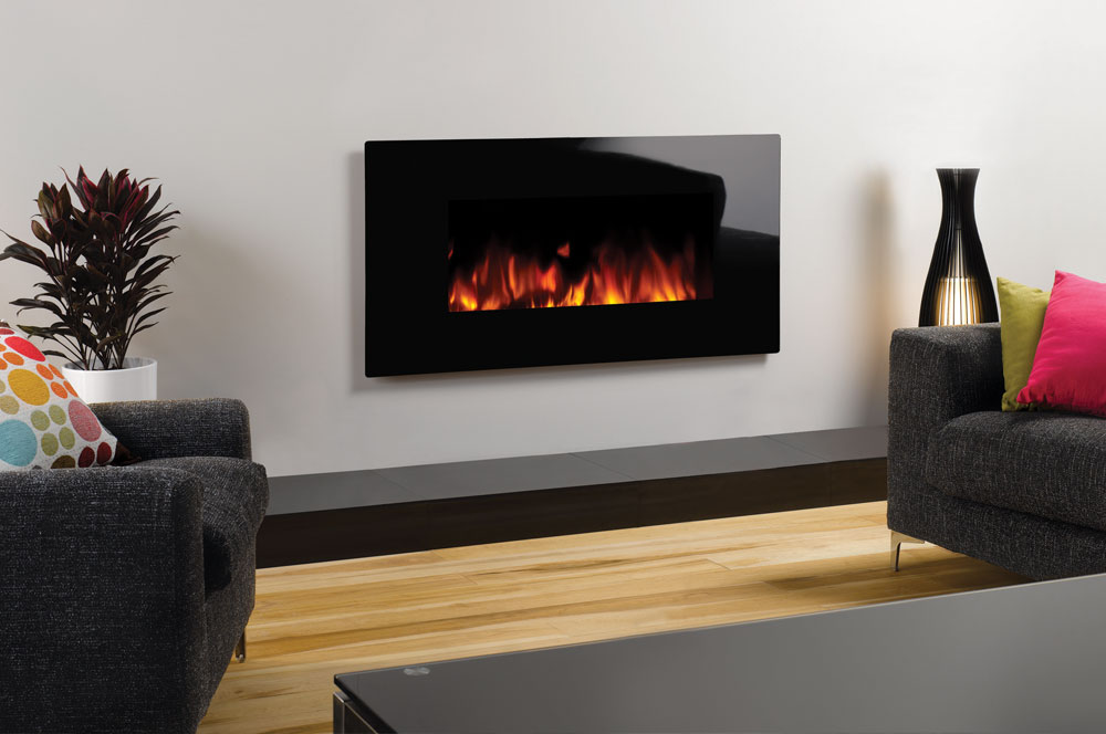 Studio Electric Glass Wall Mounted Fires Gazco Fires