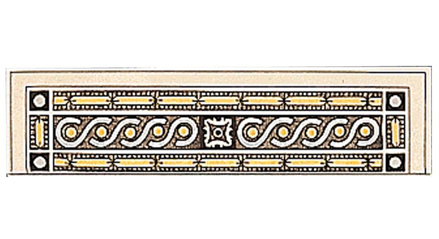 Symmetrical Classical Pattern Single Quarter Tiles Stovax