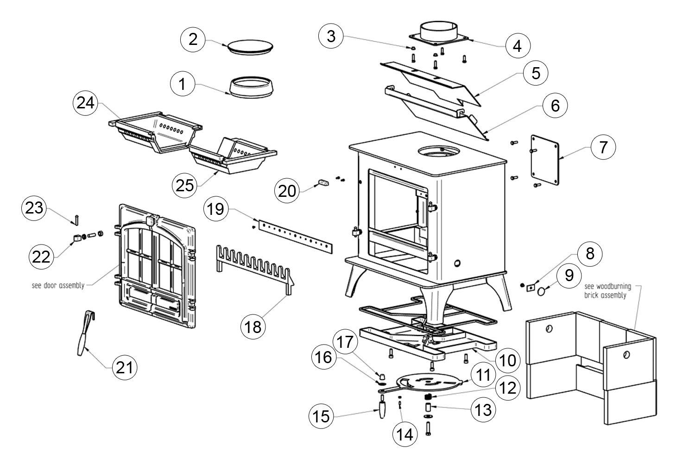 pellet stove parts diagram
