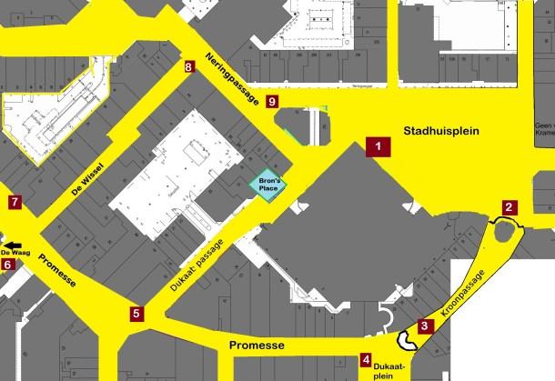 centrumkaart 2015 locaties