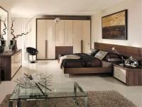 Capri bedroom in High Gloss Cream & Dijon Walnut