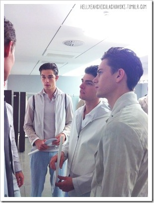 backstage at zegna