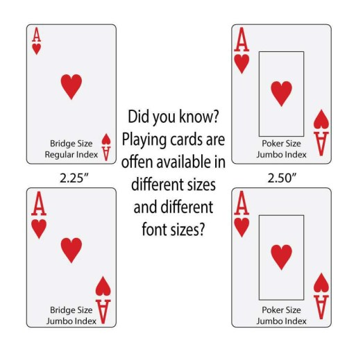 Medium Of Playing Card Dimensions
