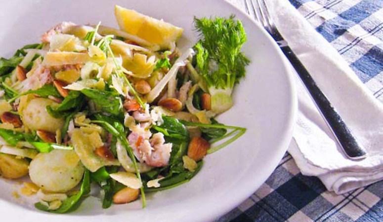 Perlas, Smoked Fish, Rocket & Fennel Salad