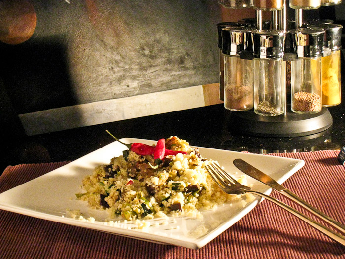 Spicy Eggplant Couscous – Vegetarian
