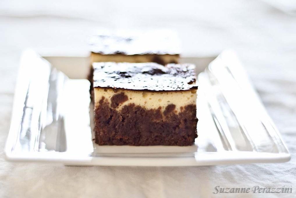 Chocolate Cheesecake Brownies - gluten-free & low FODMAP