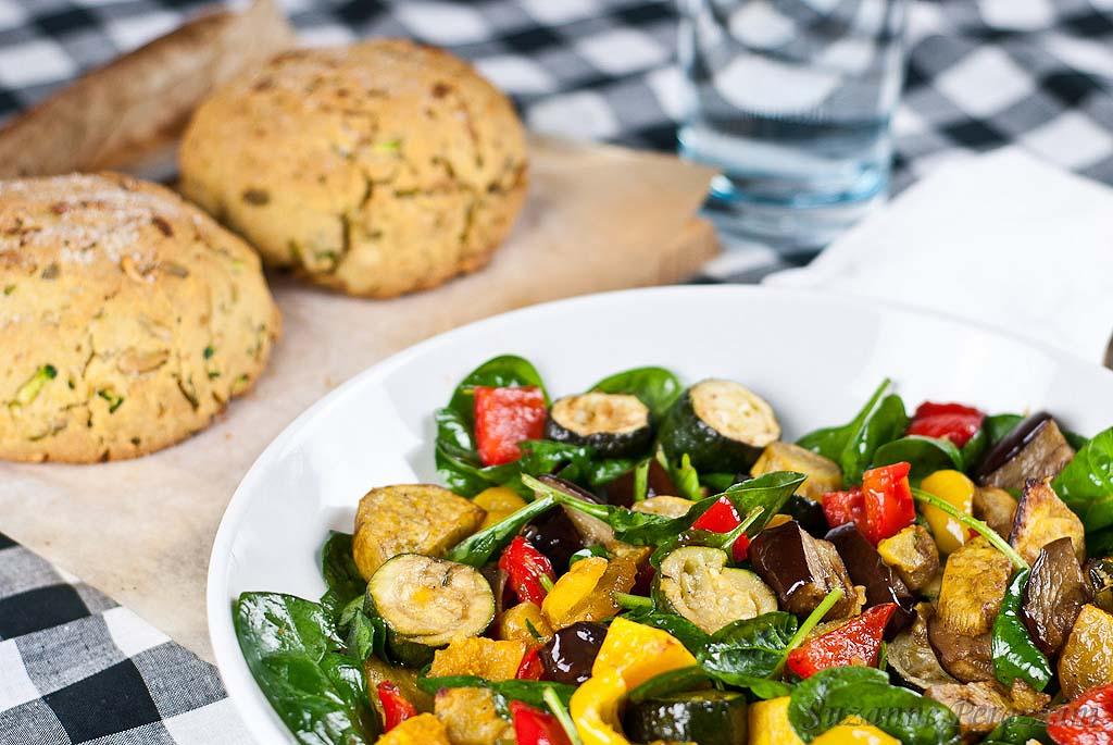 Roasted Vegetables & Zucchini Bread - a gluten-free & low FODMAP recipe