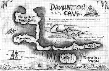 Map of Damnation Cave