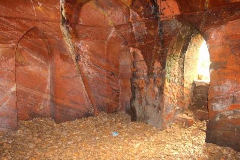 The last cave has many arched alcove and perches for candles