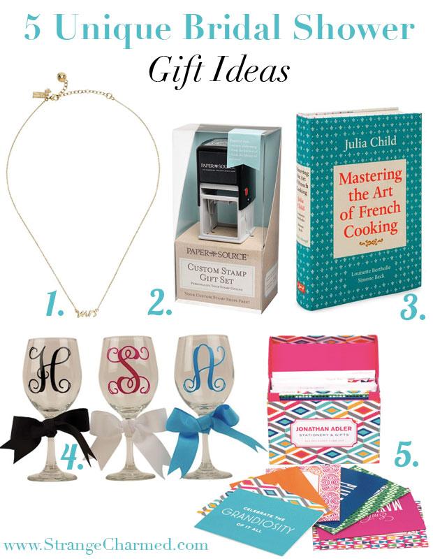 5 Unique Bridal Shower Gift Ideas