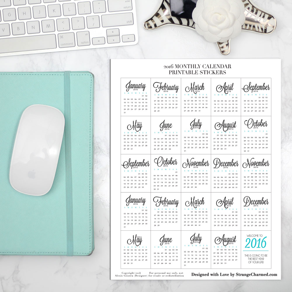 Printable Calendars You Can Fill In Free Printable Calendars Its Time To Organize Your Filofax For 2016 Strange