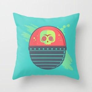 skull tank pillow