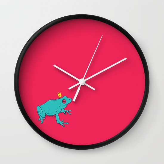 Frog Prince Clock