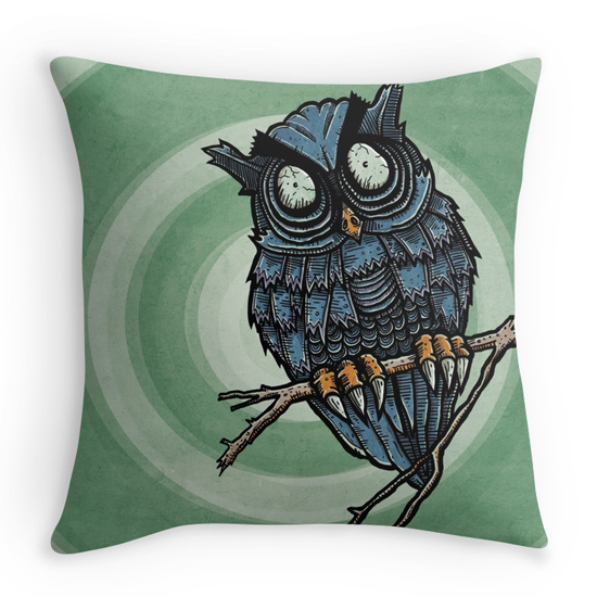 evil owl pillow