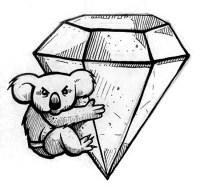 koala bear underwear sketch