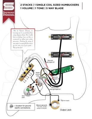 Strat wiring diagram single volume, single tone, kill switch
