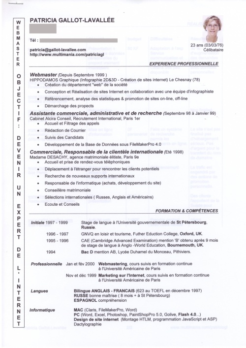 modele cv chef de clinique