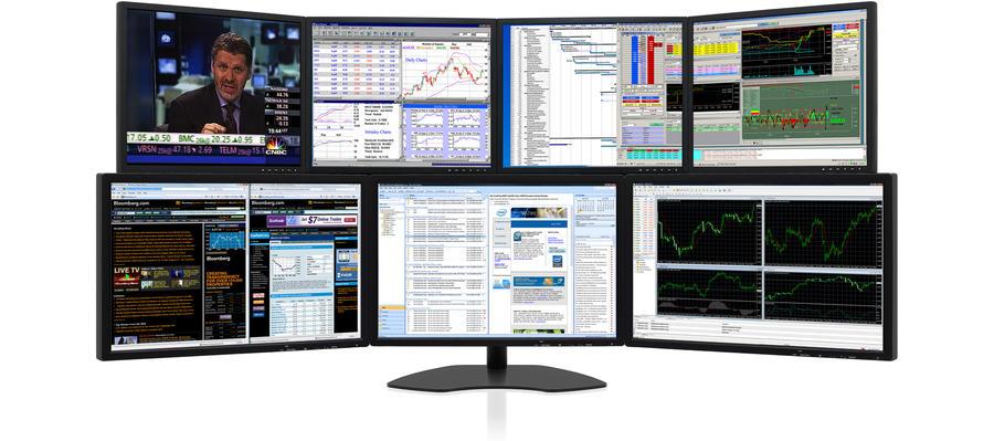 Zenview Arena Elite XL Dramatic Seven-Screen Display with Triple 24 - multi screen display