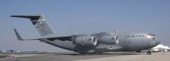 A United States Air Force C-17 Globemaster.