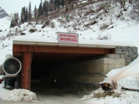 The South Portal of the Rohtang tunnel. Image: Veerender Singh, Additional Army Public Relations Offices, DPR, Ministry of Defense.