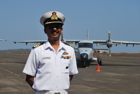 Commander Sanjay Chauhan, Commanding Officer of INAS 310 Cobras.