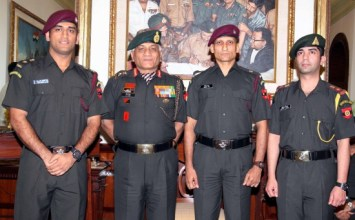 Dhoni, Bindra commissioned honorary Lt. Colonels