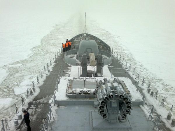The INS Teg is a Talwar-class (Krivak III) frigate built by the Yantar shipyard in Russia.