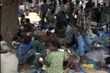 Aid Center in LTTE-held territory [No Fire Zone, Vanni, Sri Lanka]