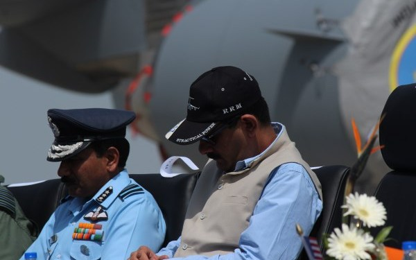 Vice Chief of Air Staff Air Marshal Arup Raha with Minister of State for Defense Jitendra Singh   StratPost