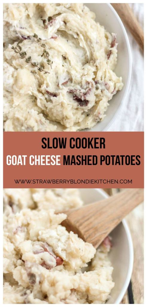 this holiday season with these Slow Cooker Goat Cheese Mashed Potatoes ...