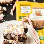 Peppermint Hot Cocoa Cookie Bars