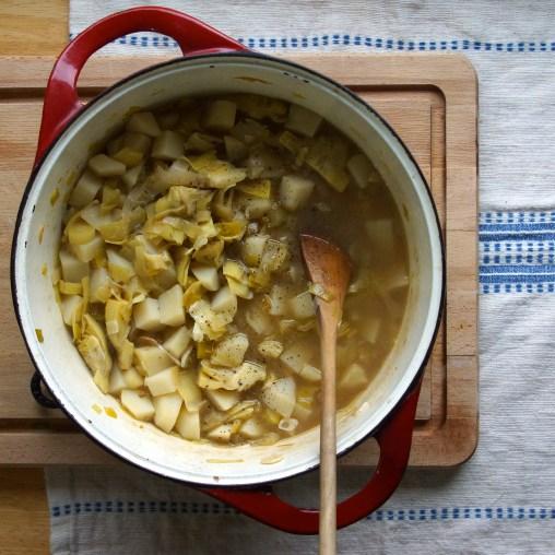 Potato, Leek & Artichoke Soup