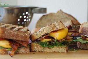 Bacon-Arugula-Nectarine-Sandwiches