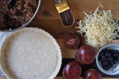 Assembling the Tomato Tart