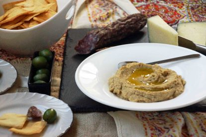 White Bean Spread with Roasted Garlic & Eggplant