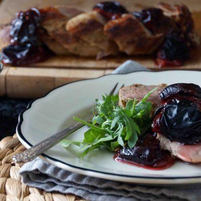 Pork Tenderloin with Roasted Plums