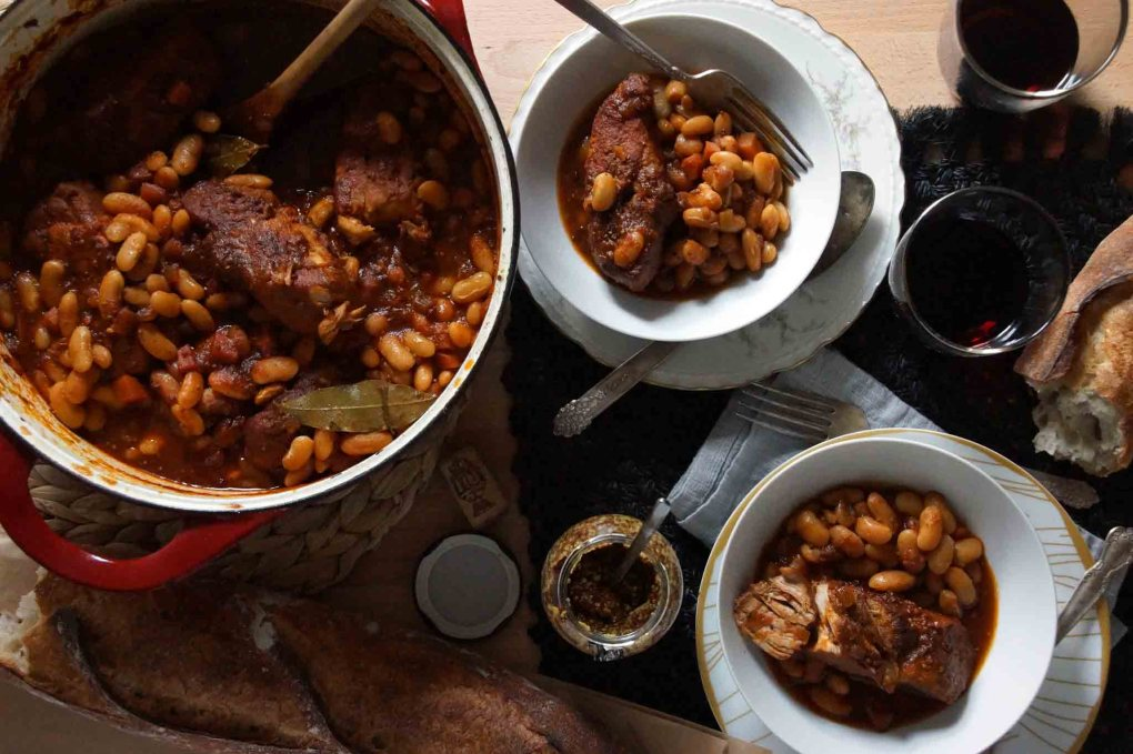 Cider Braised Pork and Beans