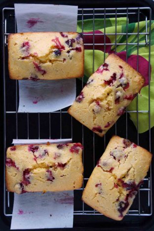 Cranberry-Orange Quick Bread with Orange Glaze