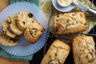 Fig, Almond, and Rosemary Quick Bread