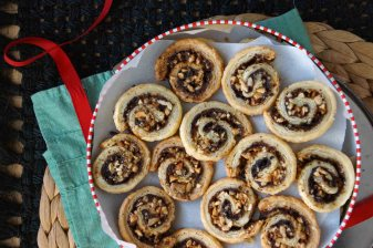 White Chocolate, Espresso, and Hazelnut Pinwheel Cookies