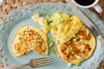 Pea & Scallion Pancakes