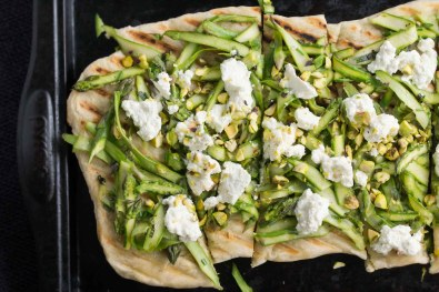 Asparagus & Fresh Ricotta Grilled Flatbread