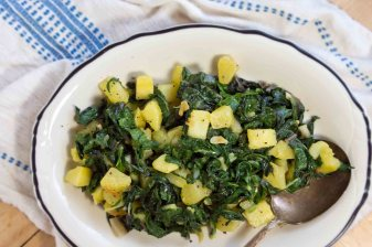 Croatian Swiss Chard with Potatoes