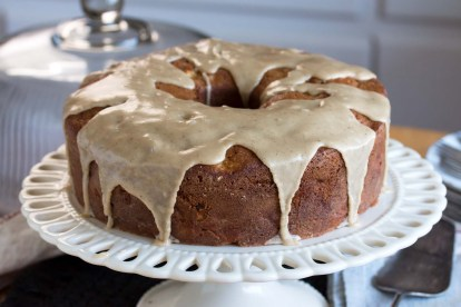 Apple Walnut Cake with Maple-Brown Butter Glaze