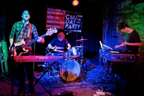 the band PVT performs during CMJ at Bowery Electric in NYC